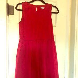 Pleated Red Jessica Simpson dress